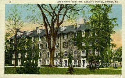 East College, Dickinson College - Carlisle, Pennsylvania PA Postcard
