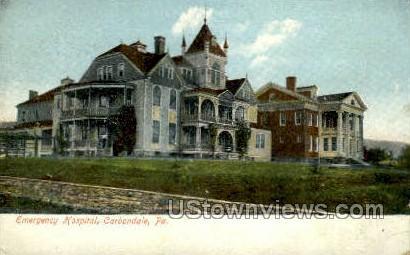 Emergency Hospital - Carbondale, Pennsylvania PA Postcard