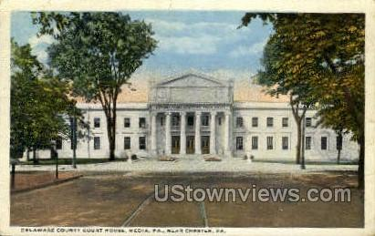Delaware County Court House - Chester, Pennsylvania PA Postcard
