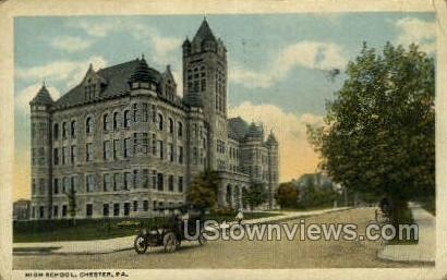 High School, Chester - Pennsylvania PA Postcard