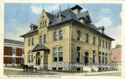 Post Office, 5th & Welsh Street - Chester, Pennsylvania PA Postcard