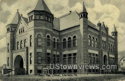 McKean Ave. School - Charleroi, Pennsylvania PA Postcard