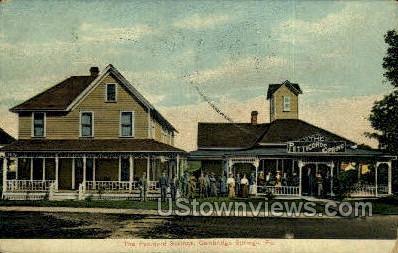 The Petticord Springs - Cambridge Springs, Pennsylvania PA Postcard