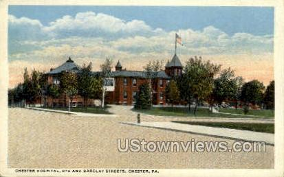 Chester Hospital - Pennsylvania PA Postcard