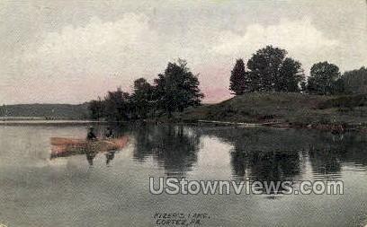 Kizer's Lake - Cortez, Pennsylvania PA Postcard