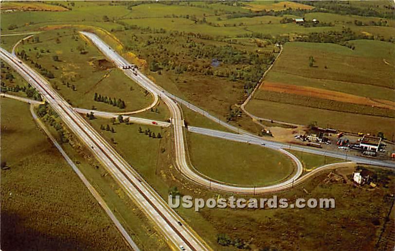 Carlisle Interchange - Pennsylvania PA Postcard