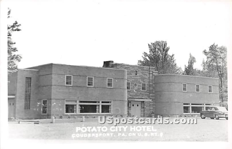 Potato City Hotel - Coudersport, Pennsylvania PA Postcard