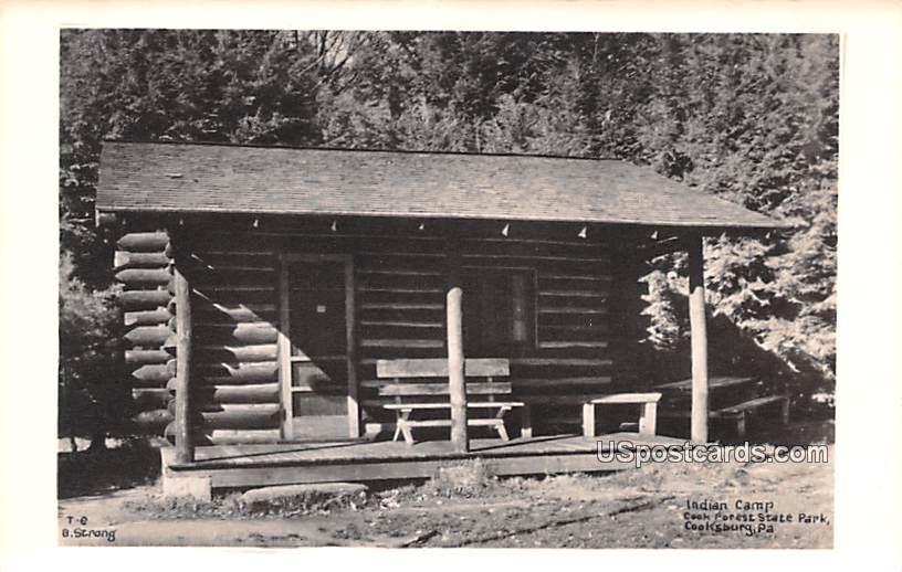Indian Camp - Cooksburg, Pennsylvania PA Postcard