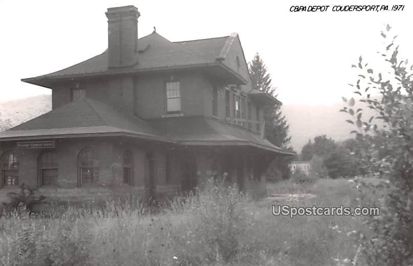 Capa Depot - Coudersport, Pennsylvania PA Postcard