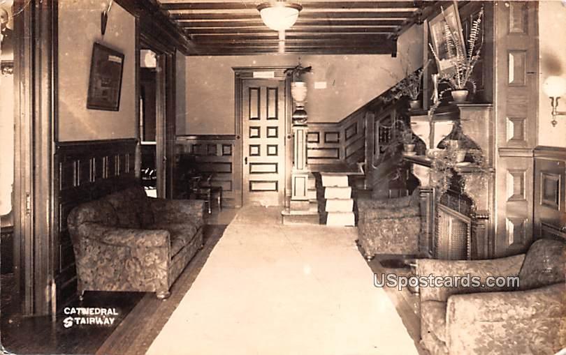 Cathedral Stairway - Coudersport, Pennsylvania PA Postcard