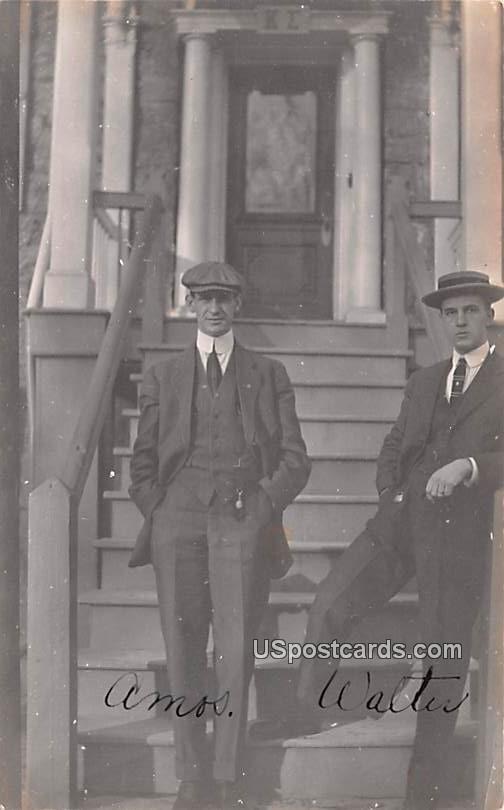 Amos & Walter - Carlisle, Pennsylvania PA Postcard