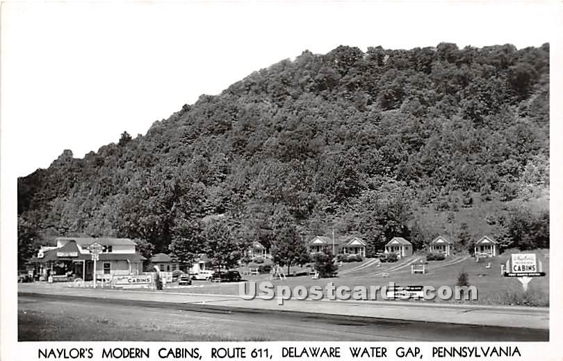 Naylor's Modern Cabins - Delaware Water Gap, Pennsylvania PA Postcard