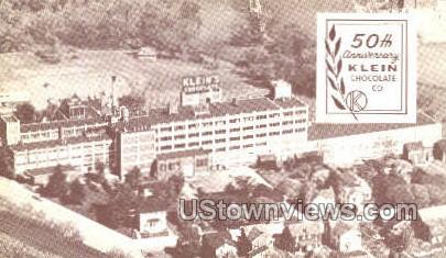 Klein Chocolate Co. - Elizabethtown, Pennsylvania PA Postcard