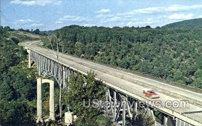 Keystone Shortway Bridge - Emlenton, Pennsylvania PA Postcard
