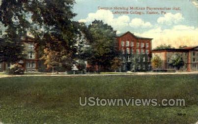McKean Fayerweather Hall - Easton, Pennsylvania PA Postcard