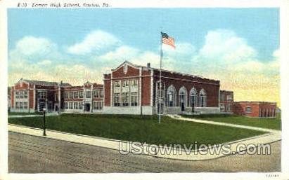Easton High School - Pennsylvania PA Postcard