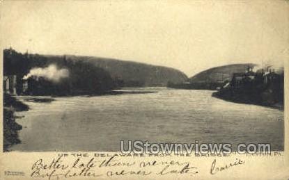 Delaware River - Easton, Pennsylvania PA Postcard