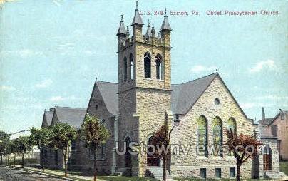 Olivet Presbyterian Church - Easton, Pennsylvania PA Postcard