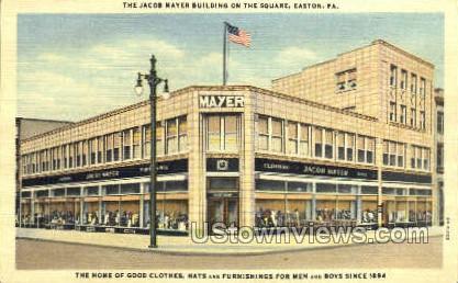 Jacob Mayer Bldg - Easton, Pennsylvania PA Postcard