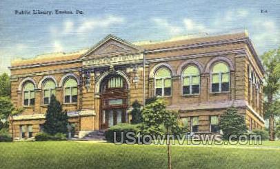 Public Library - Easton, Pennsylvania PA Postcard