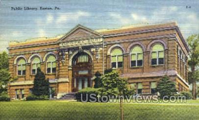 Public Library, Easton - Pennsylvania PA Postcard