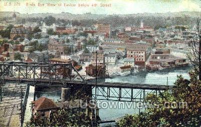 4th Street - Easton, Pennsylvania PA Postcard