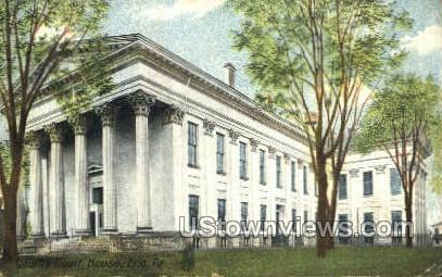 County Court House, Erie - Pennsylvania PA Postcard