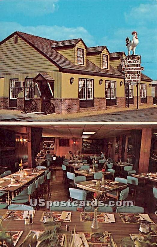 Lancaster County Farm Diner - Elizabethtown, Pennsylvania PA Postcard