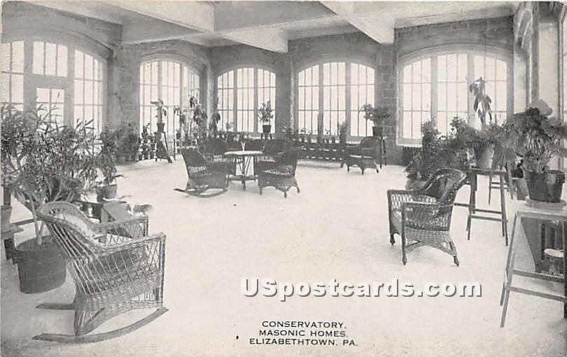 Conservatory, Masonic Homes - Elizabethtown, Pennsylvania PA Postcard