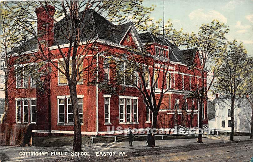 Cottingham Public School - Easton, Pennsylvania PA Postcard