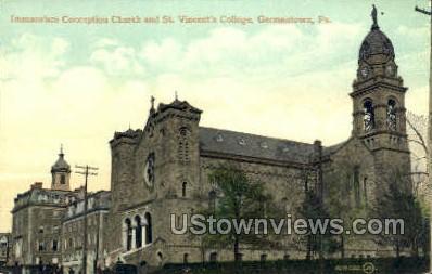 Immaculate Conception Church - Germantown, Pennsylvania PA Postcard