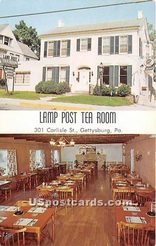 Lamp Post Tea Room - Gettysburg, Pennsylvania PA Postcard