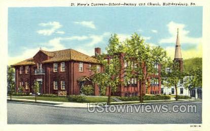 St. Mary's Convent - Hollidaysburg, Pennsylvania PA Postcard