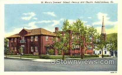 St. Mary's Convent, School - Hollidaysburg, Pennsylvania PA Postcard