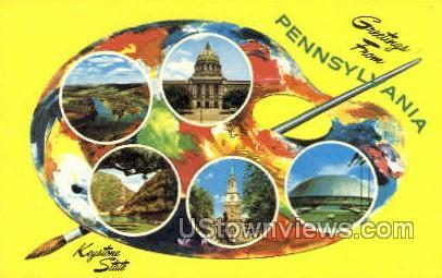 Keystone State - Harrisburg, Pennsylvania PA Postcard