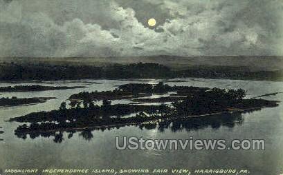Independence Island - Harrisburg, Pennsylvania PA Postcard