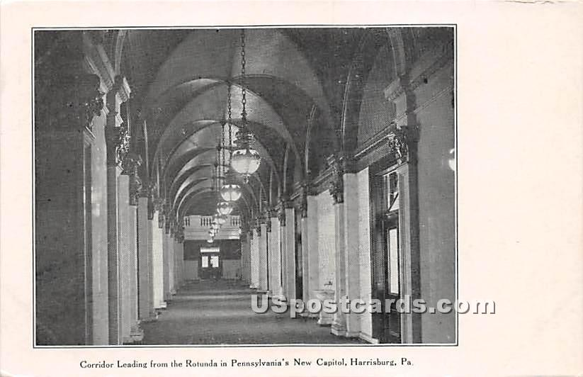 Corridor, State Capitol - Harrisburg, Pennsylvania PA Postcard