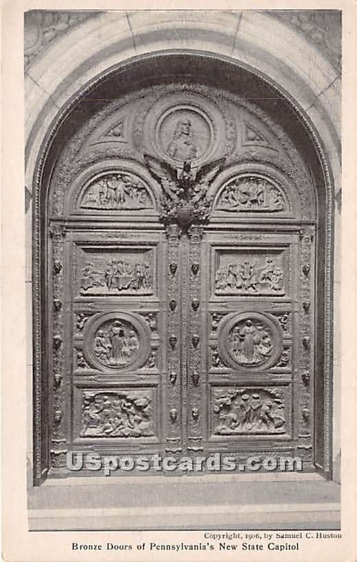 Bronze Doors, State Capitol - Harrisburg, Pennsylvania PA Postcard