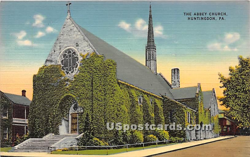 Abbey Church - Huntingdon, Pennsylvania PA Postcard