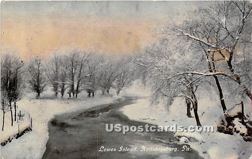 Lowes Island - Hollidaysburg, Pennsylvania PA Postcard