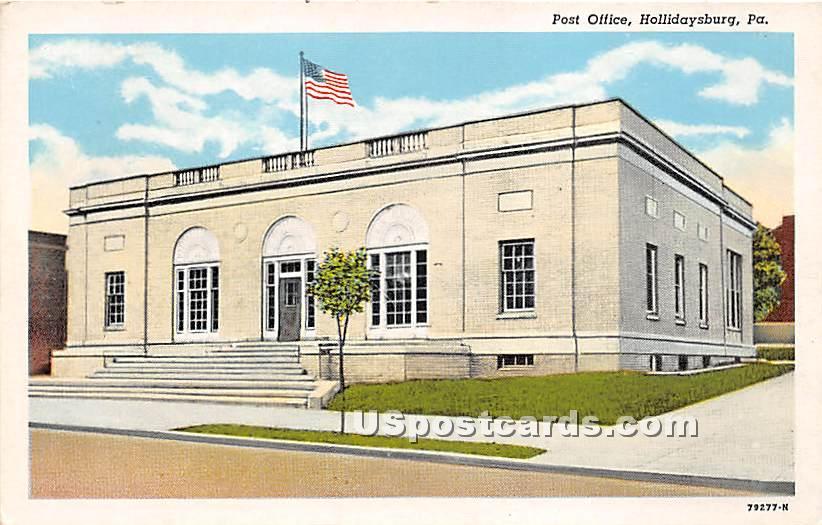 Post Office Building - Hollidaysburg, Pennsylvania PA Postcard