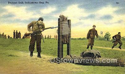 Bayonet Drill - Indiantown Gap, Pennsylvania PA Postcard