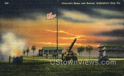 General's Home & Retreat - Indiantown Gap, Pennsylvania PA Postcard