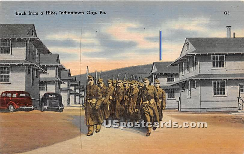 Back from a Hike - Indiantown Gap, Pennsylvania PA Postcard
