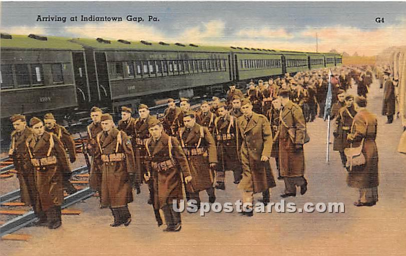 Arriving - Indiantown Gap, Pennsylvania PA Postcard