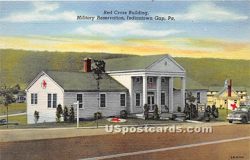 Red Cross Building, Military Reservation - Indiantown Gap, Pennsylvania PA Postcard