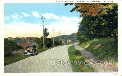 US 6, Roosevelt Highway - Mt Jewett, Pennsylvania PA Postcard