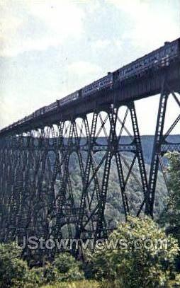 Kinzua Bridge - Mt Jewett, Pennsylvania PA Postcard
