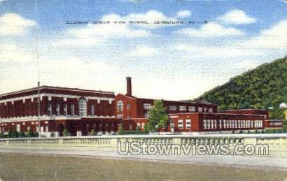 Cochran Junior High School - Johnstown, Pennsylvania PA Postcard