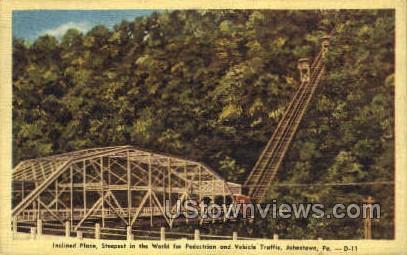 Inclined Plane - Johnstown, Pennsylvania PA Postcard